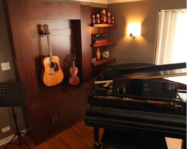 Điểm nhấn Guitar cho nhà phong cách