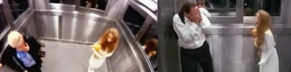 """Chết khiếp vì """"ma nữ"""" xuất hiện trong thang máy"""