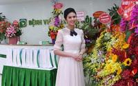 Hoa hậu Ngọc Hân duyên dáng trong lễ khai trương Bệnh viện mắt Hà Nội 2