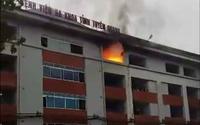 Bệnh nhân tháo chạy vì Bệnh viện phát hỏa
