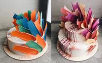 """Chiêm ngưỡng tuyệt tác bánh ngọt - """"Brushstrokes"""" cake đang """"gây bão"""" mạng xã hội Instagram"""