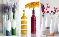 3 cách tái chế vỏ chai thành lọ cắm hoa đơn giản đẹp tinh tế