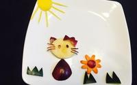 10 phút tạo hình 5 con vật siêu cute chỉ từ táo và nho