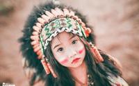"""""""Hoa khôi nhí"""" Tây Nguyên lại hóa nàng thổ dân xinh đẹp"""