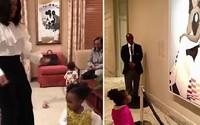 Nổi tiếng chỉ nhờ một bức ảnh, bé gái 2 tuổi sung sướng khi được gặp gỡ và nhảy múa cùng bà Michelle Obama