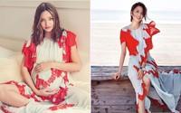 """Diện chung 1 chiếc váy, """"mỹ nhân Tân Cương"""" Đồng Lệ Á đẹp chẳng kém Miranda Kerr"""