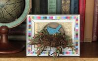 Khéo tay làm tranh tổ chim 3D trang trí nhà thêm xinh