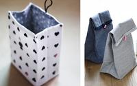 Huy động vải vụn làm túi đựng đồ thật dễ dàng mà đẹp mắt
