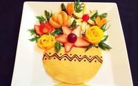 4 cách bày trái cây thành hình lẵng hoa đẹp lung linh