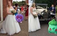Cô dâu sửng sốt khi lễ cưới thành đấu trường Pokemon