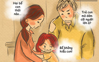 Bộ tranh: Rồi cũng đến lúc chúng ta giật mình thảng thốt, rằng bố mẹ đã già...