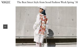 """Mới ngày đầu tiên dự Seoul Fashion Week, Phí Phương Anh cùng """"Em Hoa"""" đã lên ngay Vogue Mỹ và Pháp"""