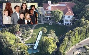 Angelina Jolie làm cầu trượt dài hơn 30 mét trong biệt thự mới cho các con vui chơi