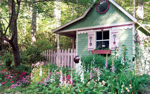 Những ngôi nhà nhỏ trong vườn khiến bạn như được lạc vào thế giới cổ tích