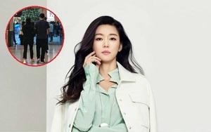 """Sắp đến ngày """"vỡ chum"""", Jun Ji Hyun vác bụng bầu đi du lịch Hồng Kông với ông xã"""