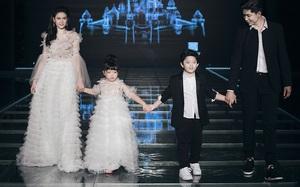Nhóc tì nhà Tim và Trương Quỳnh Anh siêu tự tin cùng bố mẹ trên sàn diễn của Tuần lễ thời trang 2017