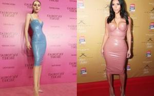 Một bộ đầm hai số phận: Davikah đẹp nuột nà, còn Kim Kardashian lại nhồi nhét cơ thể như muốn... tắc thở