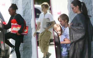Angelina Jolie cưng chiều đưa các con đi chơi trượt băng
