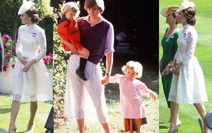 Khoảnh khắc đặc biệt này trong bữa tiệc hoàng gia, Công nương Kate trông giống hệt mẹ chồng Diana