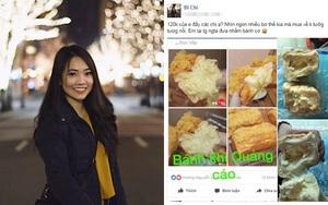 Tốn 120k mua bánh mì phô mai quảng cáo ruột đầy đặc quánh, cô nàng nhận về ổ bột cứng đơ phết tí tẹo nhân