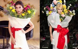 """Ngang nhiên """"mượn"""" thiết kế của Moschino, nhưng """"bó hoa"""" Tiêu Châu Như Quỳnh lại kém sắc trầm trọng"""