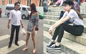 Street style sao Việt: Hoa hậu Thu Thảo diện dép tông giản dị để lộ vóc dáng gầy nhẳng sau khi cưới