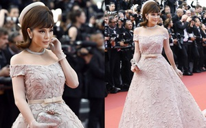 Ngày cuối cùng tại Cannes, Lý Nhã Kỳ hóa thân thành quý cô cổ điển yêu kiều, lộng lẫy