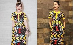 """Chi Pu diện cả cây đồ hiệu """"đụng hàng"""" với Phạm Hương tại Elle Style Award 2017"""