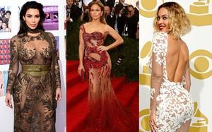 """4 người đẹp Hollywood là """"fan cuồng"""" của đầm xuyên thấu táo bạo đến tận cùng"""