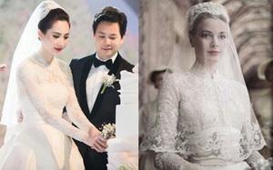 1 trong 3 mẫu váy cưới của Thu Thảo liệu có phải được lấy cảm hứng từ mẫu váy của công nương Grace Kelly
