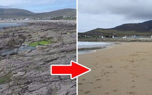 """Kinh ngạc bãi biển đột ngột xuất hiện trở lại sau hơn 30 năm """"mất tích"""""""