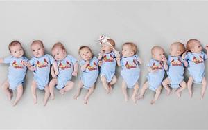 Bức ảnh 9 đứa trẻ giống hệt nhau và sự thật không ai có thể ngờ