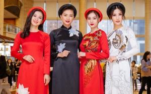 """Ngô Thanh Vân cùng hội mỹ nhân """"Cô Ba Sài Gòn"""" diện áo dài nổi bật trên thảm đỏ LHP Busan"""
