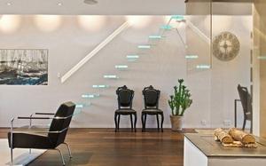 """Cầu thang không tay vịn - kiểu cầu thang đẹp """"xuất sắc"""" cho nhà hiện đại"""