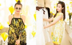 Hoa hậu Mỹ Linh, Á hậu Lệ Hằng tíu tít đi thử váy áo