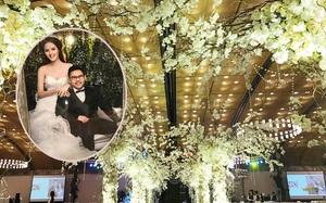 Những hình ảnh xa hoa trong tiệc cưới tiền tỉ của Á hậu Hoàng Anh
