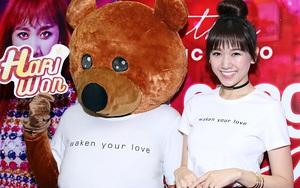 Vắng Trấn Thành, Hari Won tươi tắn không rời gấu tình nhân nửa bước