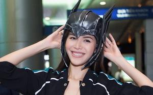 """Ra sân bay để đi gặp """"Thần Sấm"""" Thor, Minh Tú cũng ăn mặc sexy thế này"""