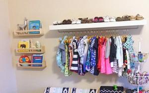 Những mẫu tủ quần áo giúp phòng của bé luôn gọn gàng và đẹp đẽ