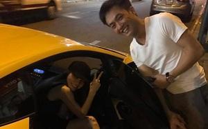 Cường Đôla ga lăng mở cửa xe cho Hồ Ngọc Hà khi đi ăn khuya cùng bạn bè