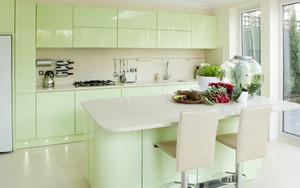 Những mẫu phòng bếp đẹp siêu lòng chị em nhờ sử dụng gam màu pastel