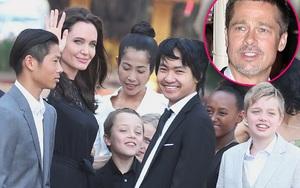 Lần đầu tiên Brad Pitt được 6 nhóc tì tới thăm sau nhiều tháng căng thẳng