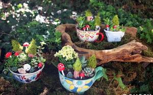 12 cách biến tấu tách uống trà thành đồ vật trang trí nhà đẹp mắt