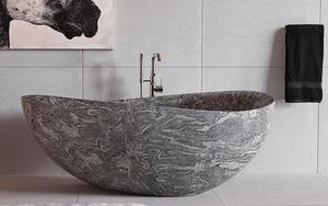 Chẳng thể nào cưỡng nổi sức lôi cuốn đầy mê hoặc của những mẫu bồn tắm bằng đá này