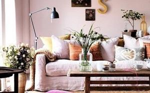 Gợi ý trang trí nhà với gam màu hồng nhạt dịu dàng