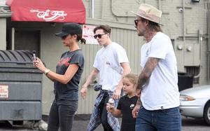Gia đình David Beckham vui vẻ xuất hiện sau tin đồn hôn nhân rạn nứt