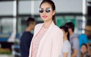 Phạm Hương hút hồn và nổi bật tại sân bay