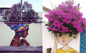 Nghệ thuật đường phố siêu sáng tạo nhờ kết hợp với thiên nhiên xung quanh