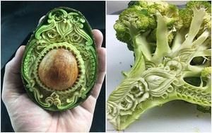 Nghệ sĩ tài ba biến rau quả thành tác phẩm điêu khắc thu hút mọi ánh nhìn