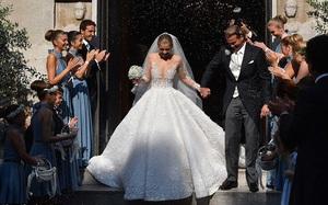 Công chúa của đế chế pha lê Swarovski rạng rỡ với chiếc váy cưới hơn 20 tỷ, đính 500.000 viên pha lê và nặng 46kg